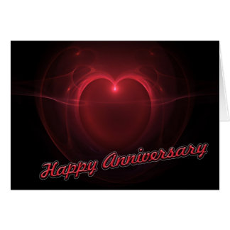 """Happy Anniversary"" Lighted Heart Card"