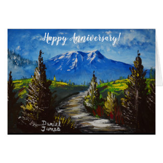 Happy Anniversary Mountain Path Card