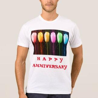 HAPPY ANNIVERSARY Rose Petal n Tulip Show T-Shirt