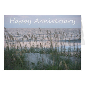 Happy Anniversary Seaside - To Mom and Dad Card