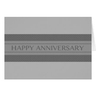 happy anniversary stripe greeting card