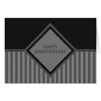 happy anniversary stripes card