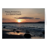 Happy Anniversary to a Special Couple Greeting Card