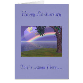 Happy Anniversary To the woman I love Card