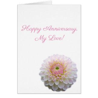 Happy Anniversary! (White flower) Card