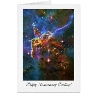 Happy Anniversay Darling, Starry Carina Nebula Card