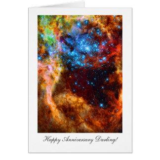 Happy Anniversay Darling, Stellar Nursery in Space Greeting Card