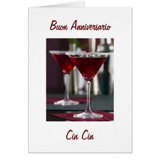 HAPPY ANNIVERSAY IN ITALIAN BUON ANNIVERSARIO GREETING CARDS
