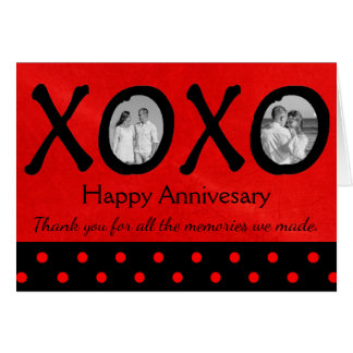 Happy Annivesary XOXO Personalized Card with Photo