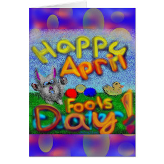 Happy April Fools Day Greeting Card