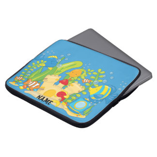 Happy Aquarium Fish Personalized Laptop Sleeve