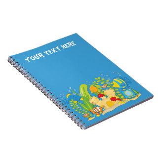 Happy Aquarium Fish Personalized Notebook