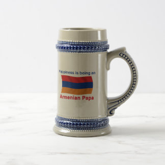 Happy Armenian Papa Beer Stein