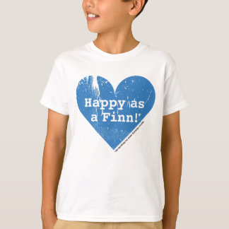 Happy as a Finn Kids T-Shirt