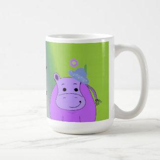 Happy as a Hippo - Purple Hippopotamus Coffee Mug