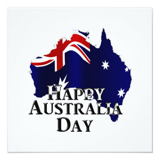 Happy Australia Day 13 Cm X 13 Cm Square Invitation Card