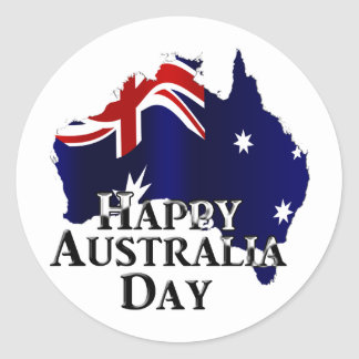 Happy Australia Day Classic Round Sticker