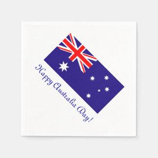 Happy Australia Day napkins with australian flag Disposable Serviette