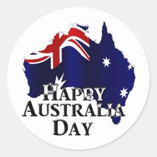 Happy Australia Day Round Sticker