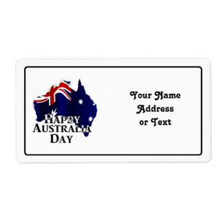 Happy Australia Day Shipping Label