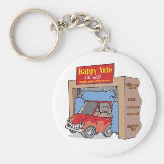 Happy Auto Car Wash Keychain