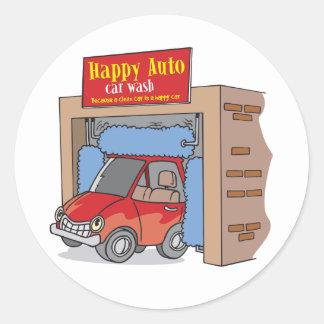 Happy Auto Car Wash Stickers