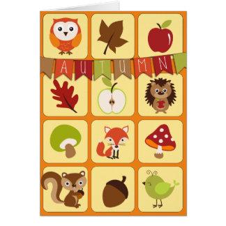 Happy Autumn Days Greeting Card