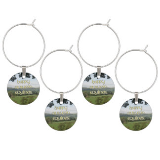 Happy Autumn Equinox Charms for Party Glasses Wine Glass Charm