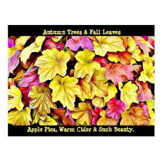 Happy Autumn Fall Leaves postcard
