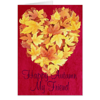 Happy Autumn My Friend Greeting Card