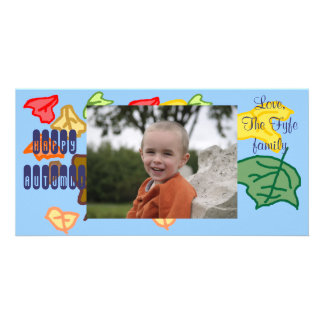 Happy Autumn Personalized Photo Card