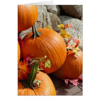 Happy Autumn Pumpkin Card