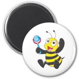 Happy Baby Bee Refrigerator Magnet