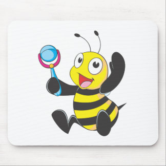 Happy Baby Bee Mouse Pad