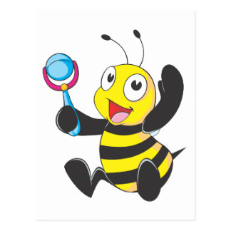 Happy Baby Bee Postcard