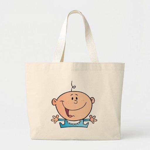Happy Baby Boy Tote Bags