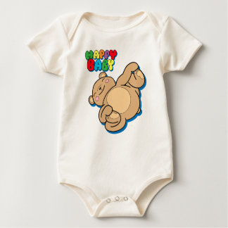 Happy Baby by Yoga Teddy Bear Baby Bodysuit