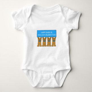 Happy Baek-il 100th Day Celebration Baby Bodysuit