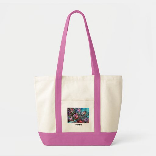 HAPPY  Bag with semi-abstract roses