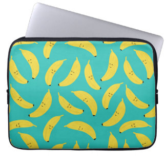 Happy Bananas Cute Fruit Pattern Laptop Sleeve