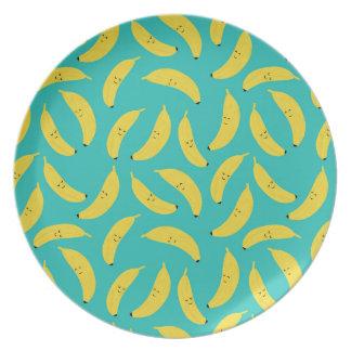 Happy Bananas Cute Plate