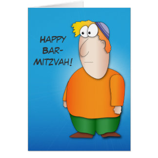 Happy bar mitzva greeting card