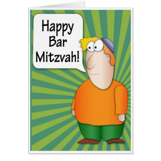 Happy Bar Mitzvah greeting card - Funny Jewish boy