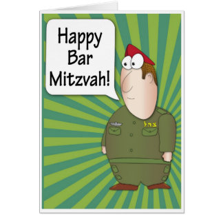 Happy Bar Mitzvah greeting card - Israeli Soldier