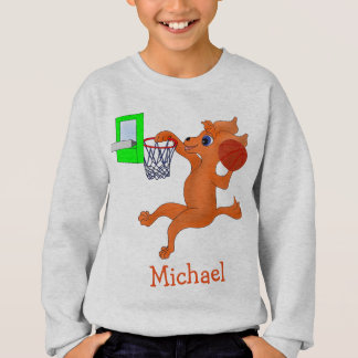 Happy Basketball by The Happy Juul Company Sweatshirt