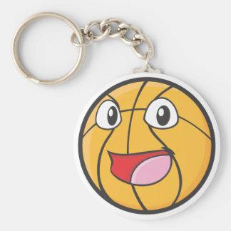 Happy Basketball Key Chain