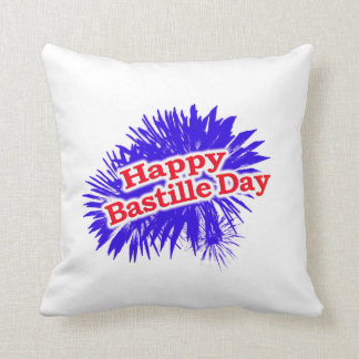 Happy Bastille Day Graphic Cushion