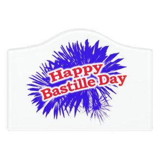 Happy Bastille Day Graphic Door Sign