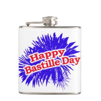 Happy Bastille Day Graphic Flask
