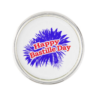 Happy Bastille Day Graphic Lapel Pin